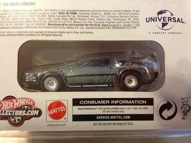 bttf hot wheels collector